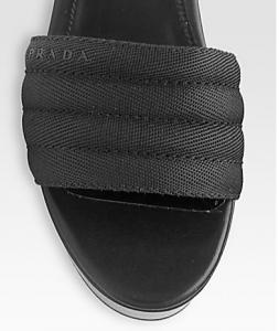 Prada slide closeup