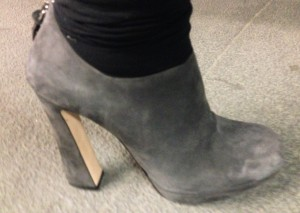 Miu Miu grey suede side snapshot