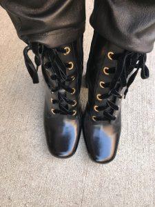 Prada laceup boot